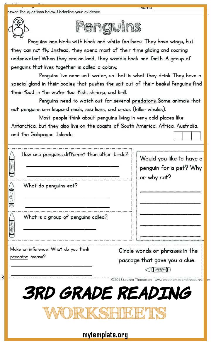 7 3rd Grade Reading Worksheets - Free Templates