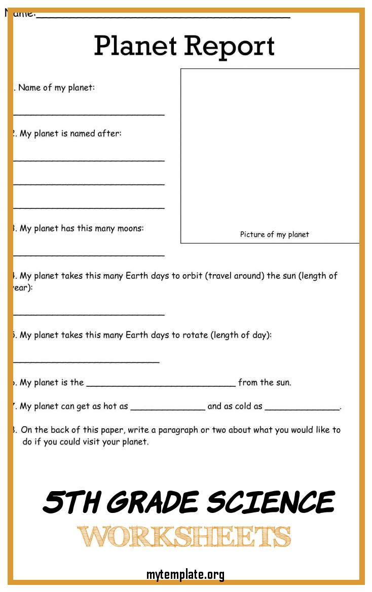 7 5th Grade Science Worksheets - Free Templates