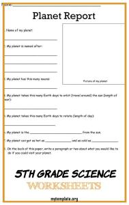 5th Grade Science Worksheets Of 7 5th Grade Science Worksheets with Answer Key