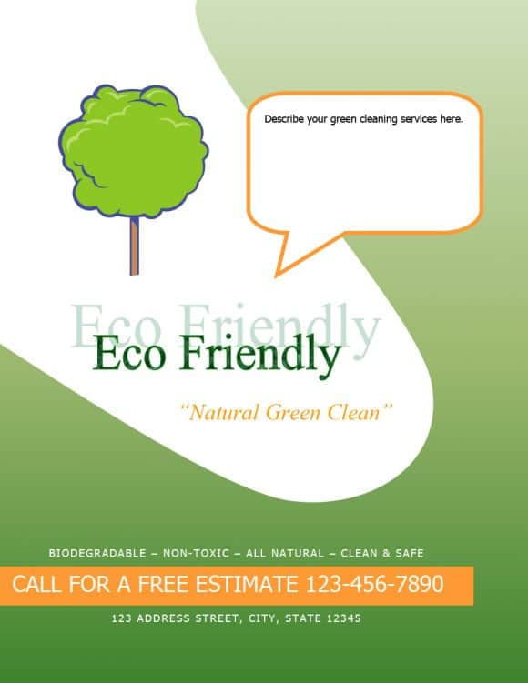 CLEANING FLYERS ECO FRIENDLY