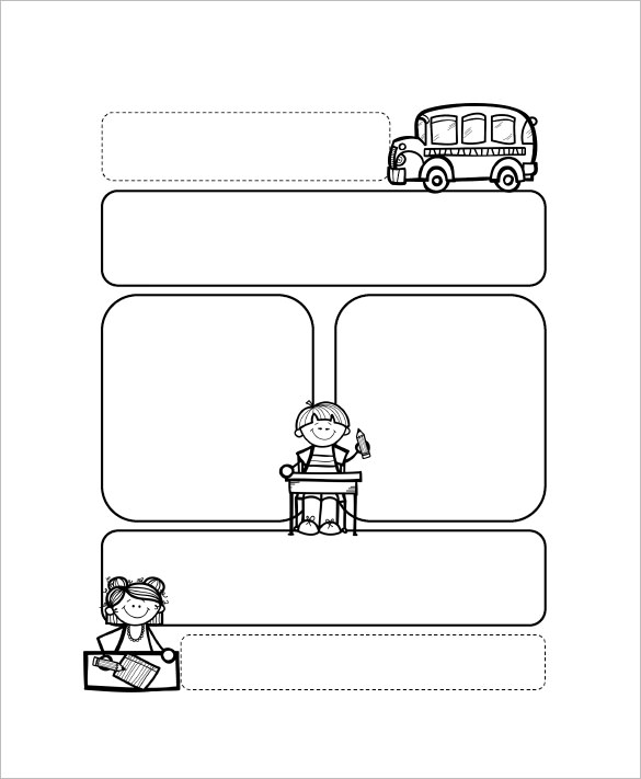 Example Bus Preschool Newsletter Template