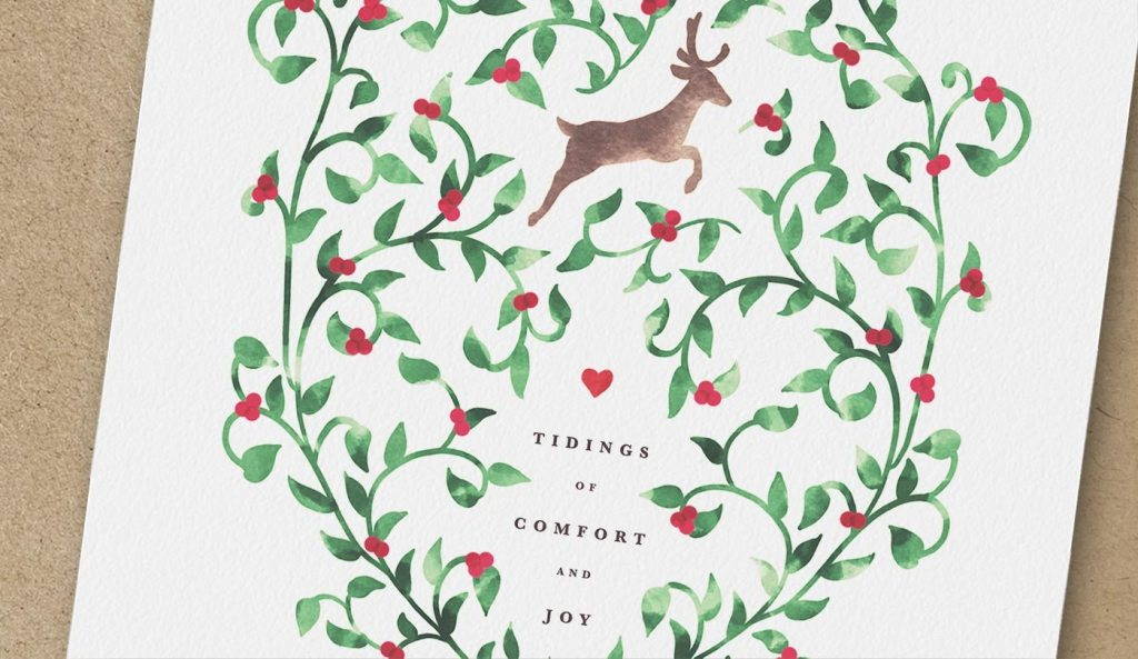 FREE CHRISTMAS PRINTABLE TIDINGS OF COMFORT & JOY CHRISTMAS CARD