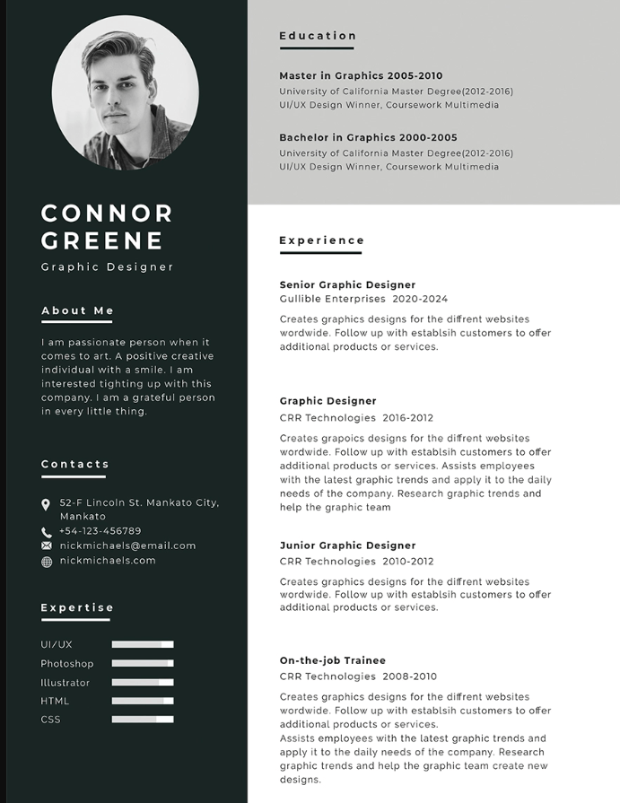 Free-Experience-Resume-Template