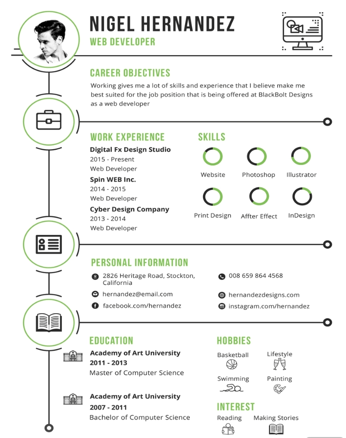 Free Minimalist Infographic Resume Template
