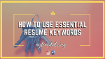 How To Use Essential Resume Keywords