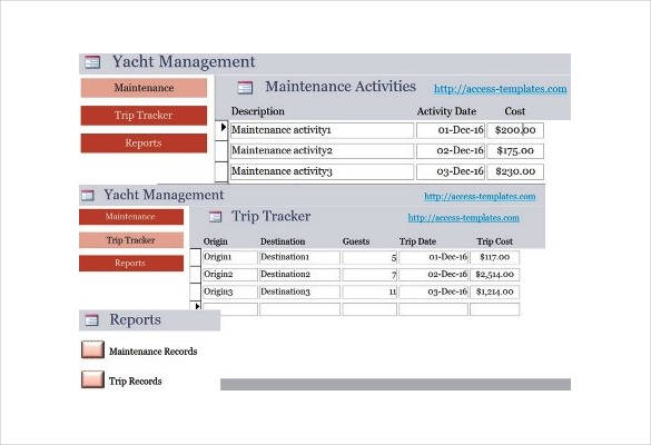 Microsoft Access Database Template Free