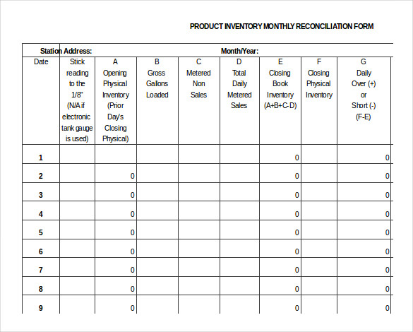Product Inventory Template