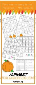 Alphabet Worksheets Find Of Preschool Alphabet Worksheets Find the Missing Letter Fall Edition E Beautiful Home