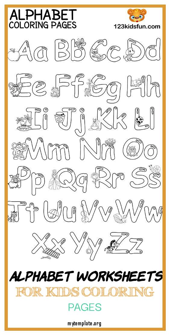 8 Alphabet Worksheets For Kids Coloring Pages - Free Templates