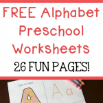 Alphabet Worksheets for Kids Tracing Letters Of Free Alphabet Preschool Printable Worksheets to Learn the Alphabet