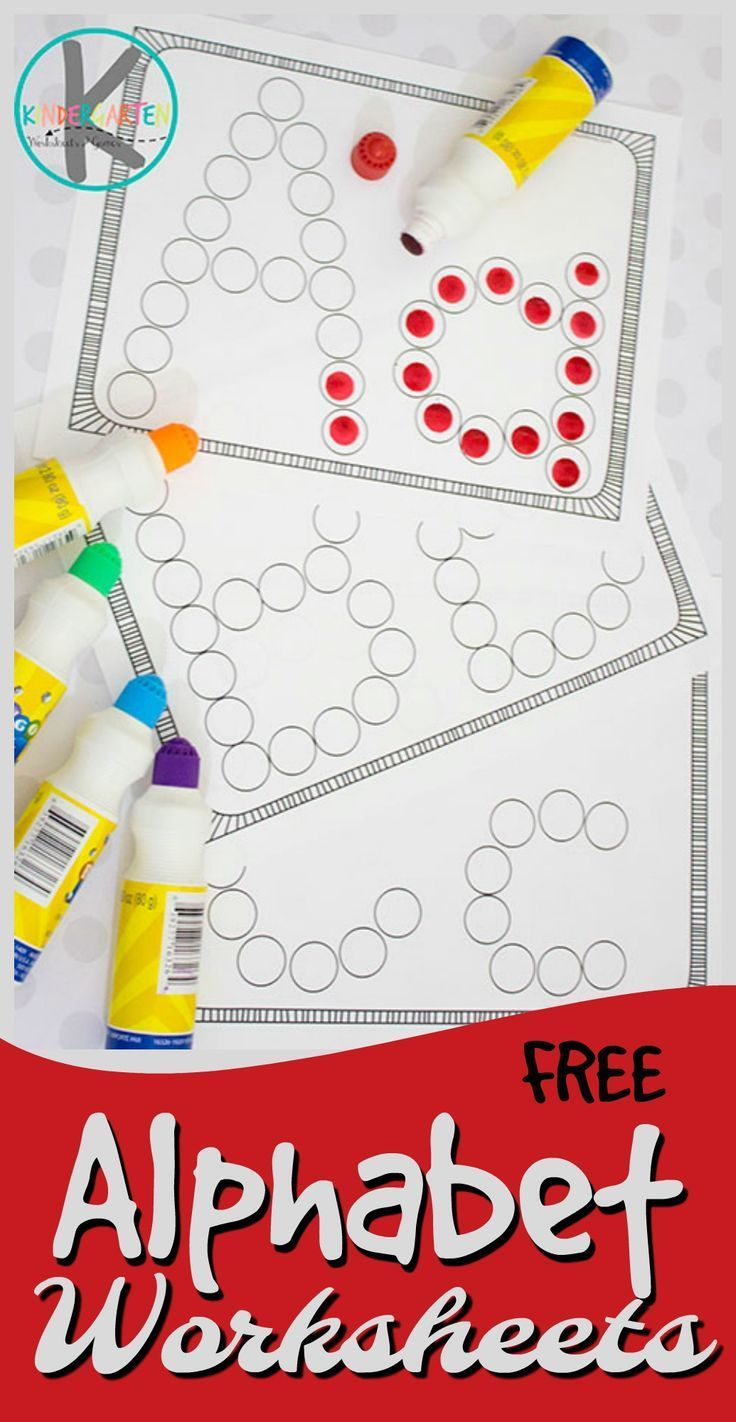 FREE Alphabet Worksheets these simple abc worksheets are a great printable to help children practice their letters using do a dot markers Perfect free printable for toddler preschool and kindergarten