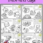 Alphabet Worksheets with Words Of Free Alphabet Trace and Color