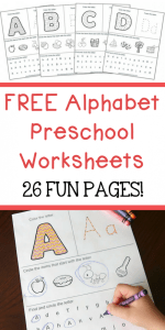 Alphabet Worksheets Writing Of Free Alphabet Preschool Printable Worksheets to Learn the Alphabet