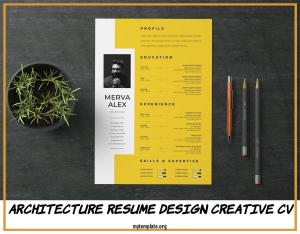 Architecture Resume Design Creative Cv Of Resume Template Indd A4