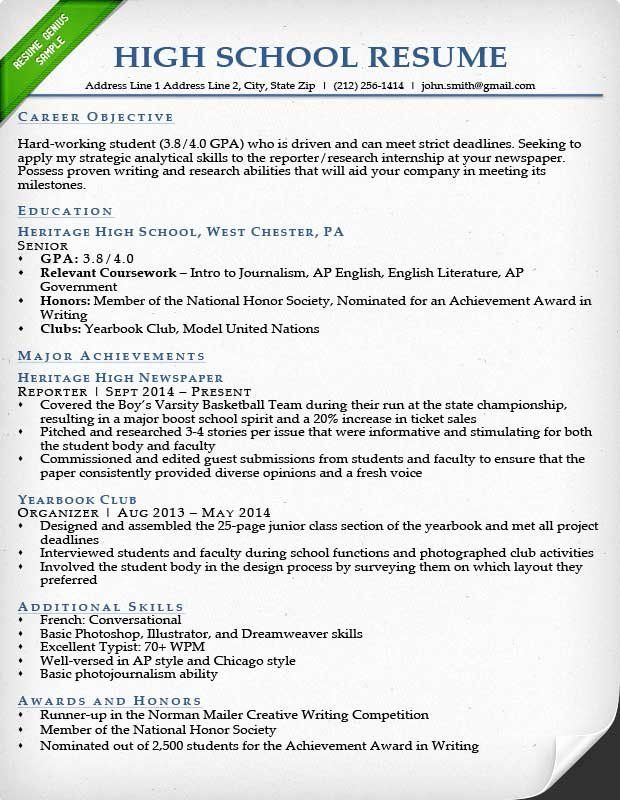10 Basic Resume Template College Students Free Templates
