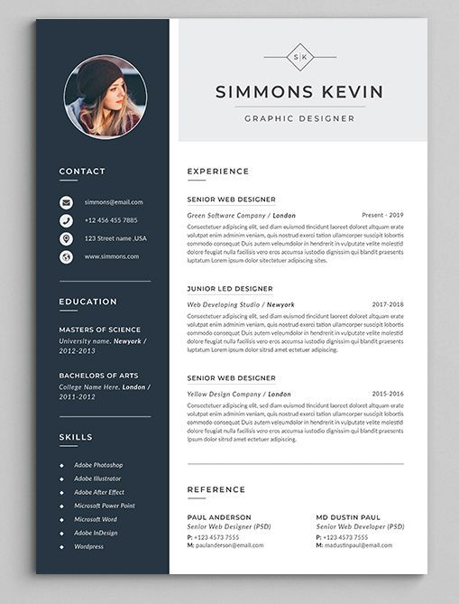 Clean & Modern Resume cv template to help you land that great job The flexible page designs are easy to use and customize so you can quickly tailor make your resume for any opportunity cv resume wordresume bestresume cleanresume jobresume mordenresume resumeremplate template resumeformat