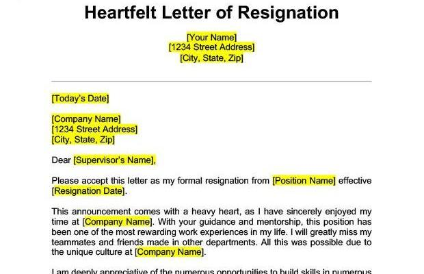 Best Way to Write A Resignation Letter Of Life Specific Resignation Letters Samples