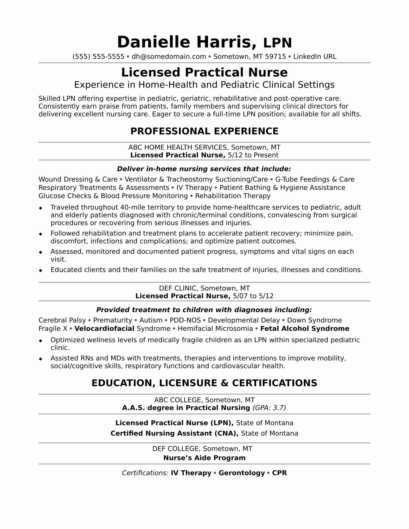 9 Clinical Nurse Resume Examples Free Templates