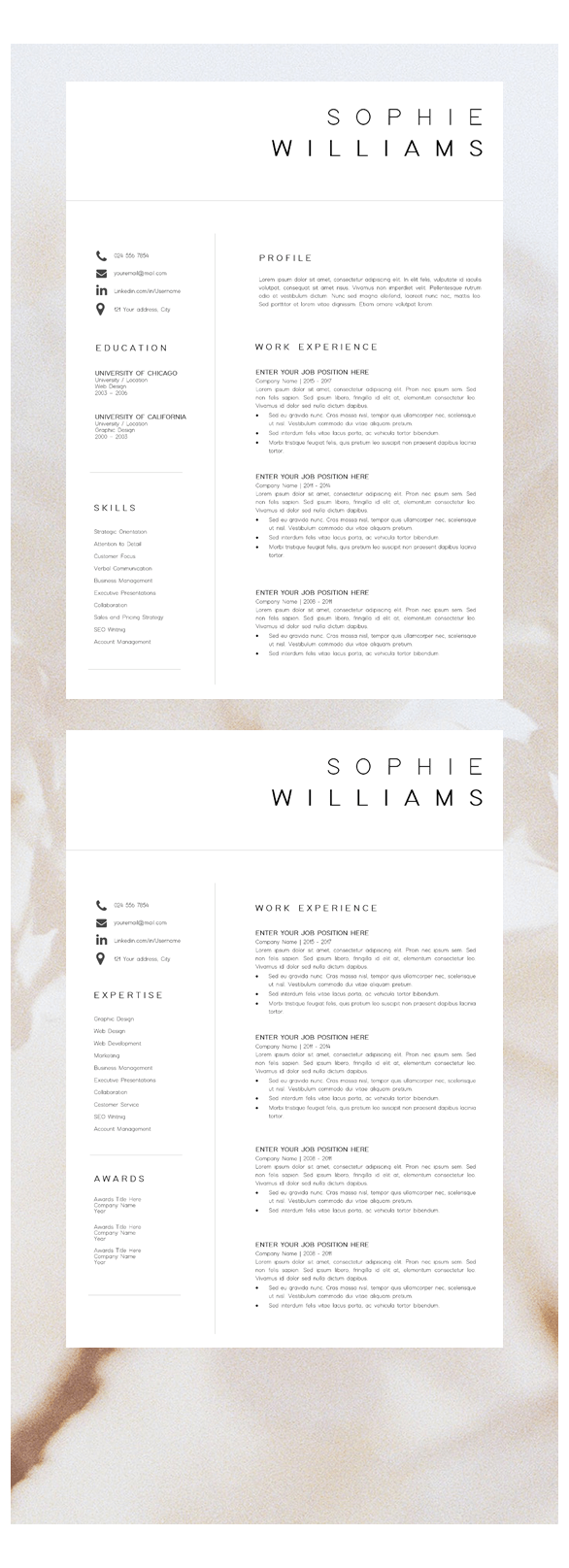 cover letter template professional cv