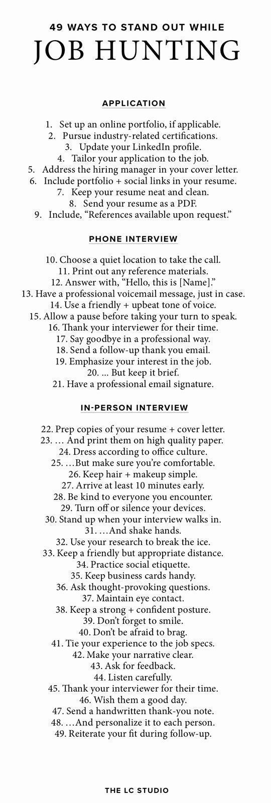 49 Ways To Stand Out During The Interview Process
