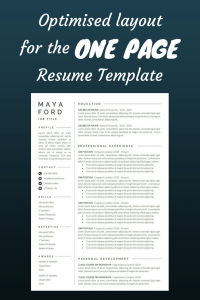 Cover Letter Template Free Ideas Of Resume Template E Page Resume Professional Resume Modern Resume Resume Word Cv Template Cover Letter Pact Resume
