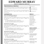 Cover Letter Template Free Modern Of Professional Resume Template Edward Murray Bestresumes
