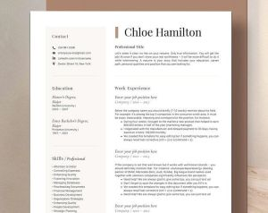 Cover Letter Template Free Simple Of Resume Template Modern & Professional Resume Template for Word