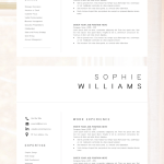Cover Letter Template Layout Free Resume Of New Cv Template Resume Template Minimalist Professional Cv Design Resume Template Instant Download Word