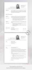 Cover Letter Template No Experience Of Resume Design Inspiration Download Best Resume Template with Modern and Professional Word Cv