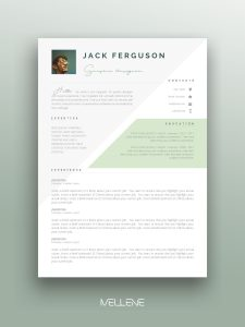 """Cover Letter Template Simple Of Resume Template 3 Page Cv Template Cover Letter Instant Download for Ms Word """"jack"""""""
