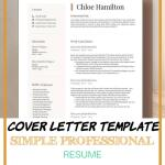 Cover Letter Template Simple Professional Resume Of Resume Template Modern & Professional Resume Template for Word