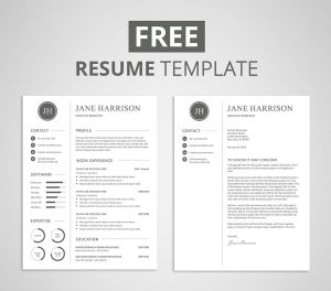Create A Cover Letter Free Of Free Resume Template and Cover Letter Graphicadi