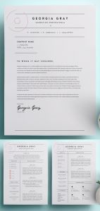 Create A Cover Letter Free Of Resume Template with Cover Letter Cv Template Ms Word Design Instant Digital Download