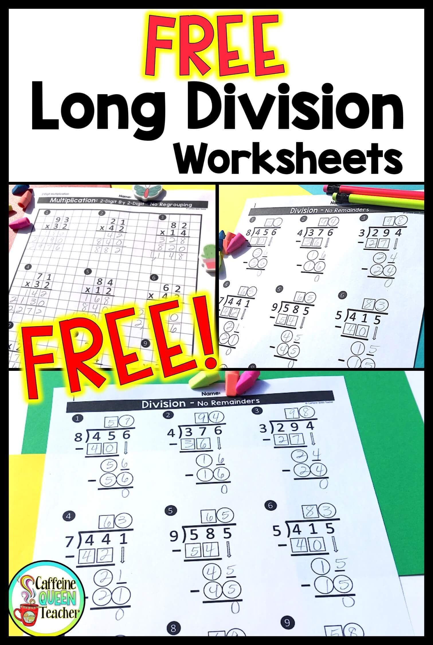 hight resolution of 9 Division Worksheets Grade 5 - Free Templates