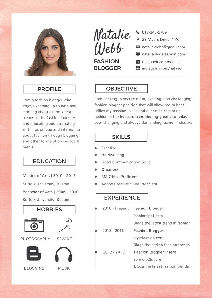 Free Best Fashion Resume CV Template in shop PSD Illustrator AI and Microsoft Word Formats
