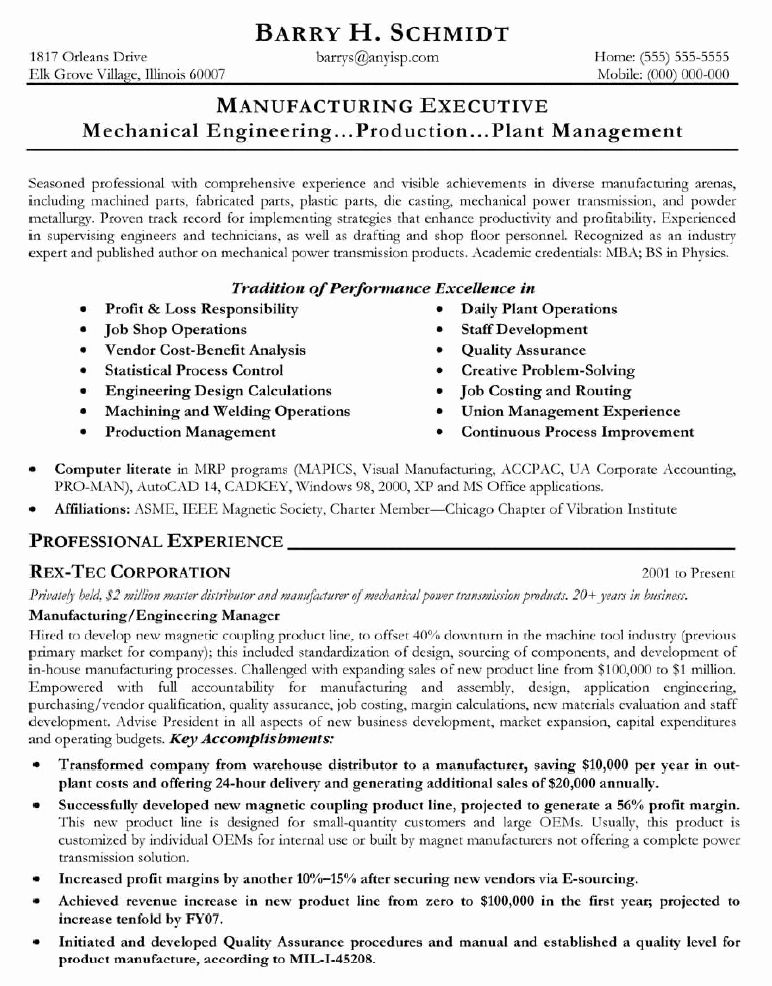 Engineering Manager Resume Examples Beautiful Sample Resume October 2014