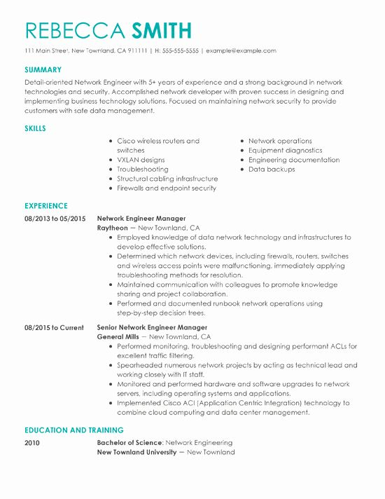 Engineering Manager Resume Examples Unique Resume Samples for Every Job Title & Industry