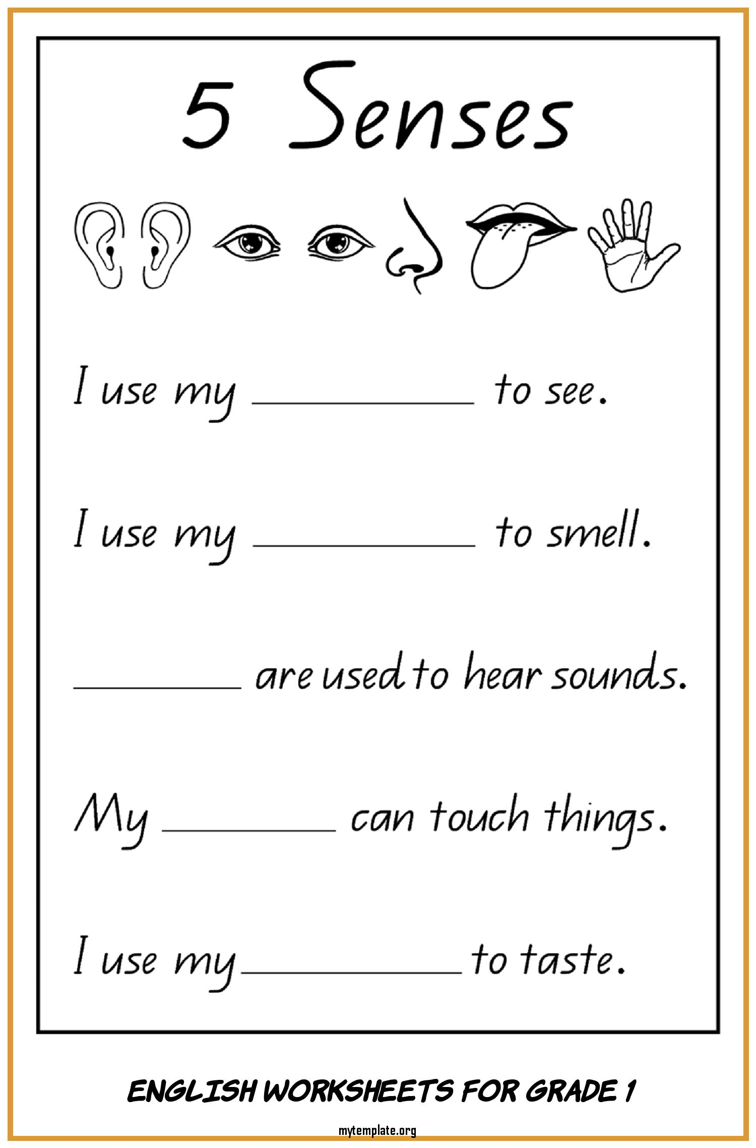 hight resolution of 7 English Worksheets for Grade 1 - Free Templates