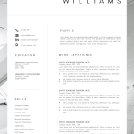 Executive assistant Resume Template Of New Cv Template Resume Template Minimalist Professional Cv Design Resume Template Instant Download Word