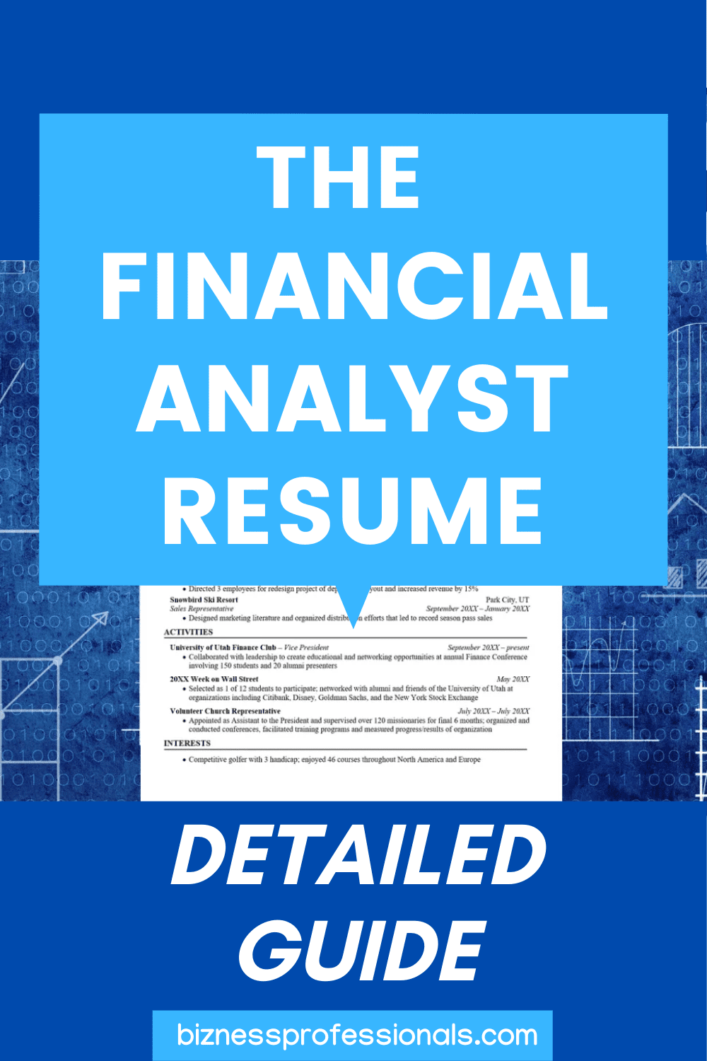 The Financial Analyst Resume Detailed 2020 Guide