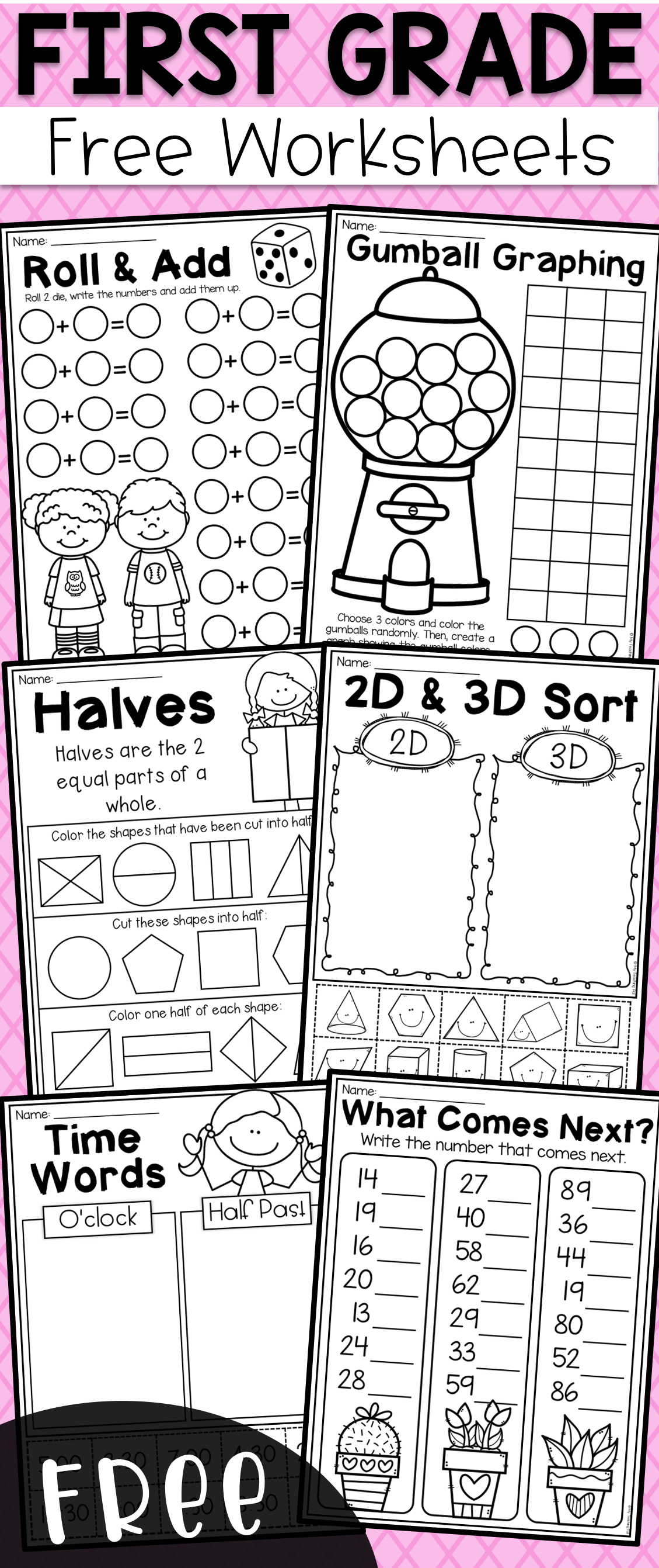 First Grade Math Worksheets Of Free First Grade Math