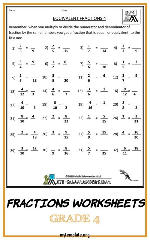 small resolution of 4th Grade Math Worksheets Template   www.robertdee.org