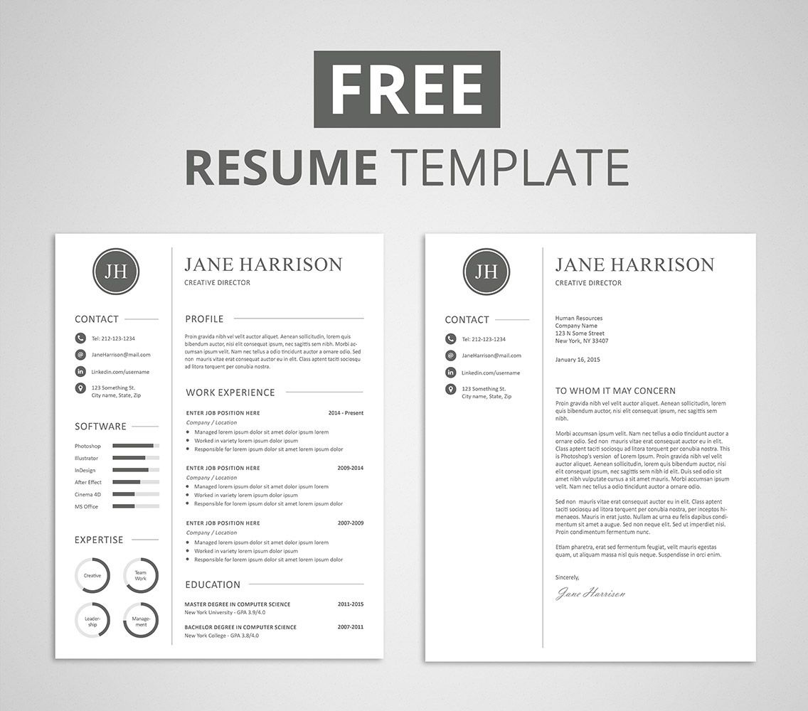 Free Resume With Cover Letter Templates Resume Format