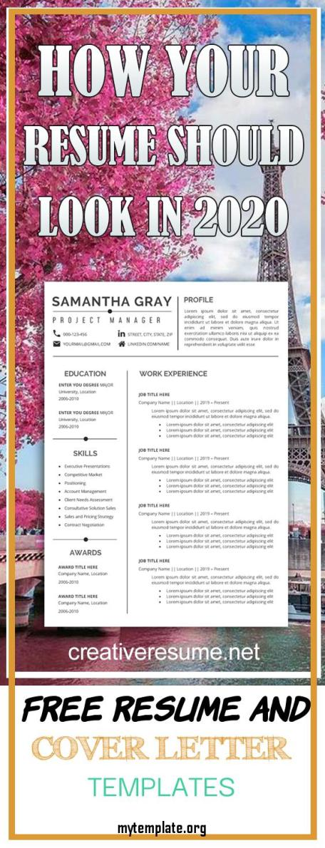 9 Free Resume And Cover Letter Templates Free Templates