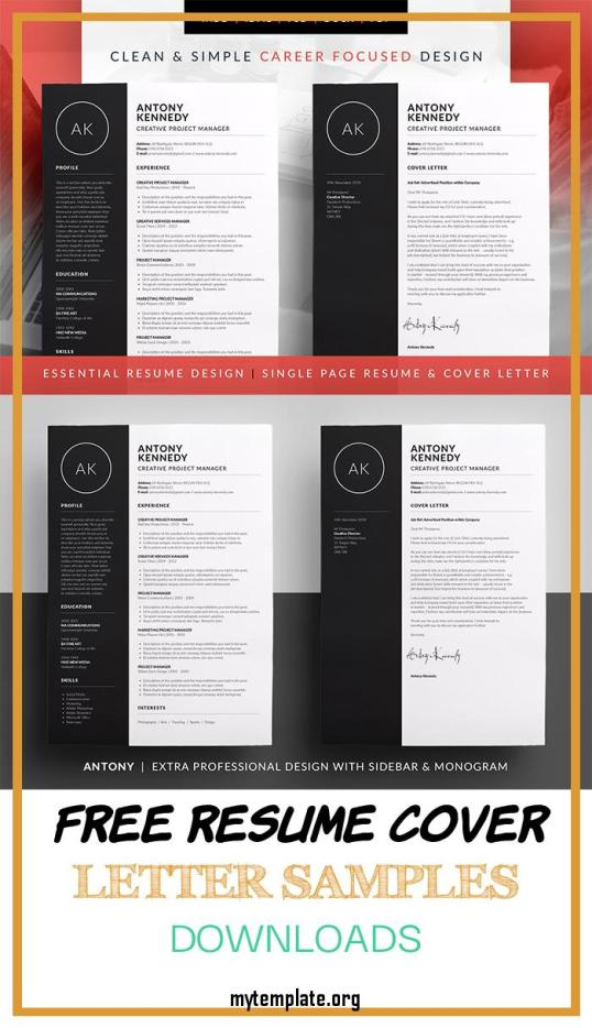 10 Free Resume Cover Letter Samples Downloads Free Templates