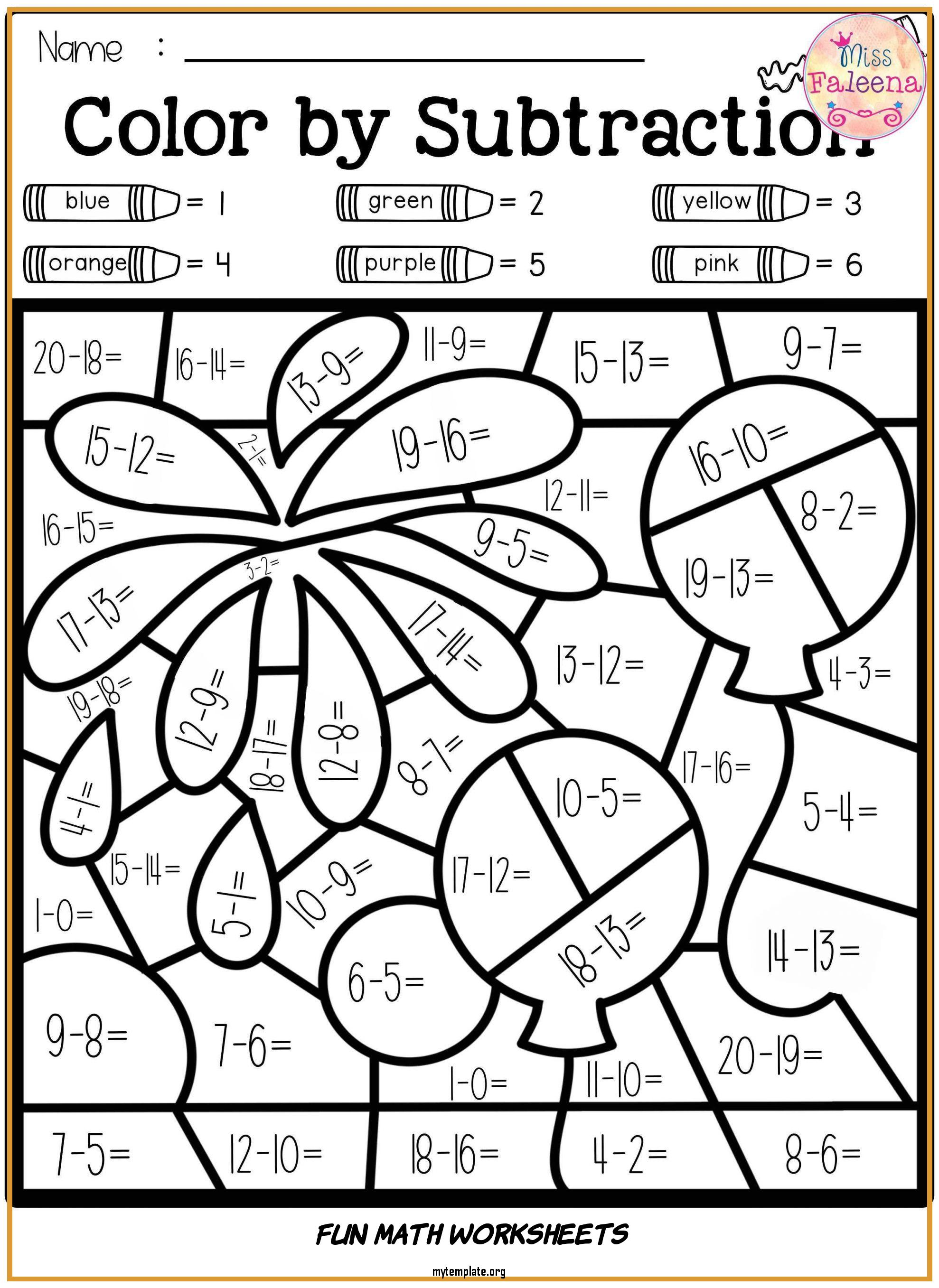 hight resolution of 7 Fun Math Worksheets - Free Templates