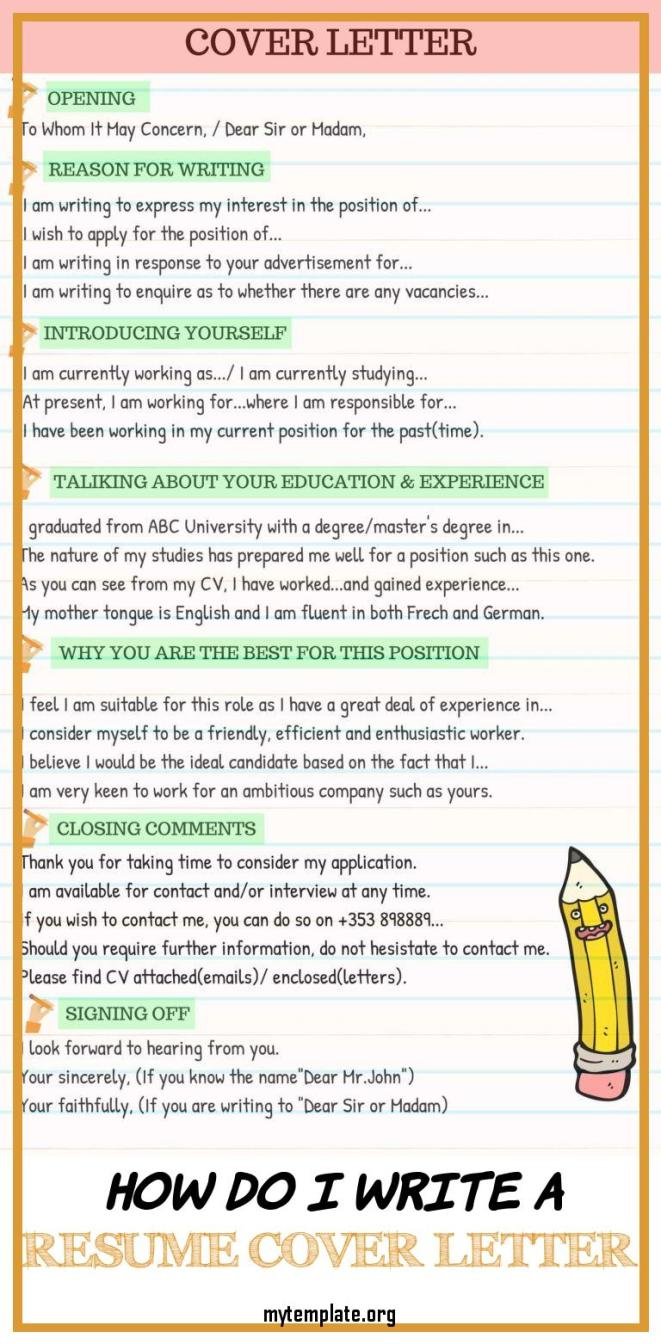 How can i write a cover letter for my resume
