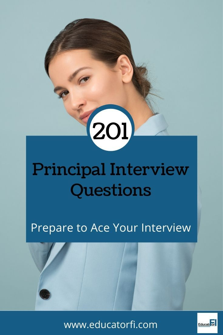 Principal Interview Questions to Help You Prepare