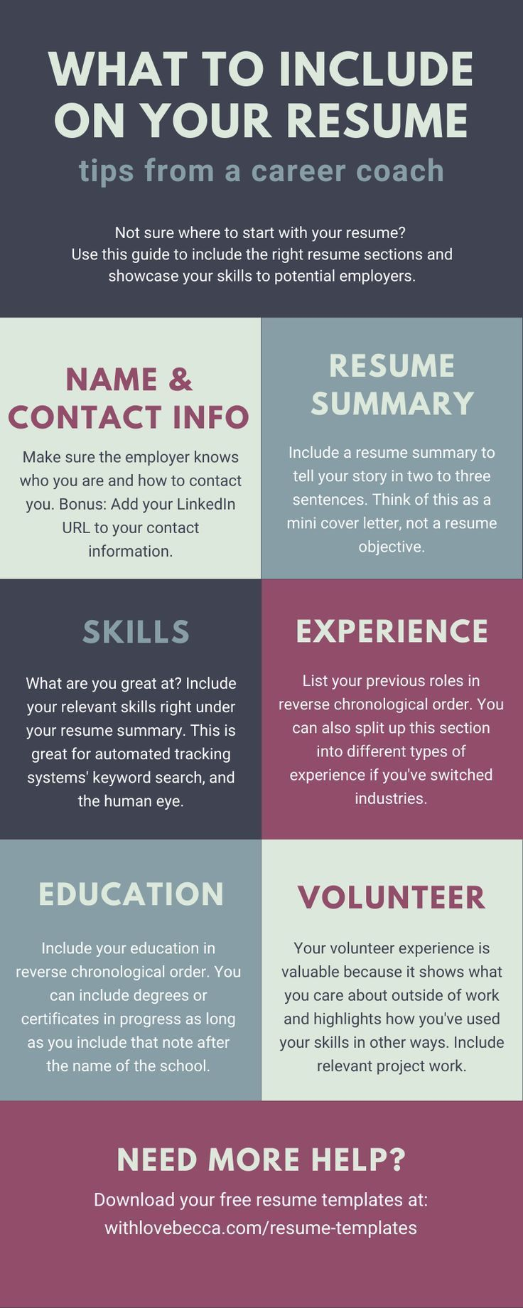 Resume Templates With Love Becca