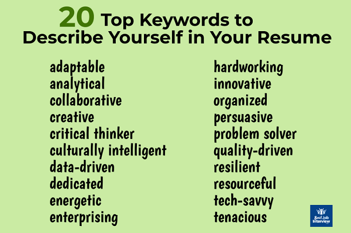 What are Good Resume Keywords